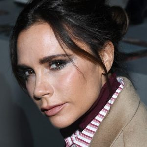What products does Victoria Beckham use to cure adult acne and have a healthy complexion?
